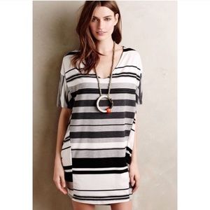 Anthropologie Puella Elevation Stripe Cocoon Dress